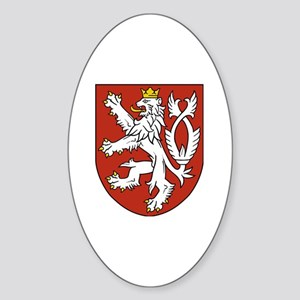 Coat of Arms czechoslovakia Sticker (Oval)